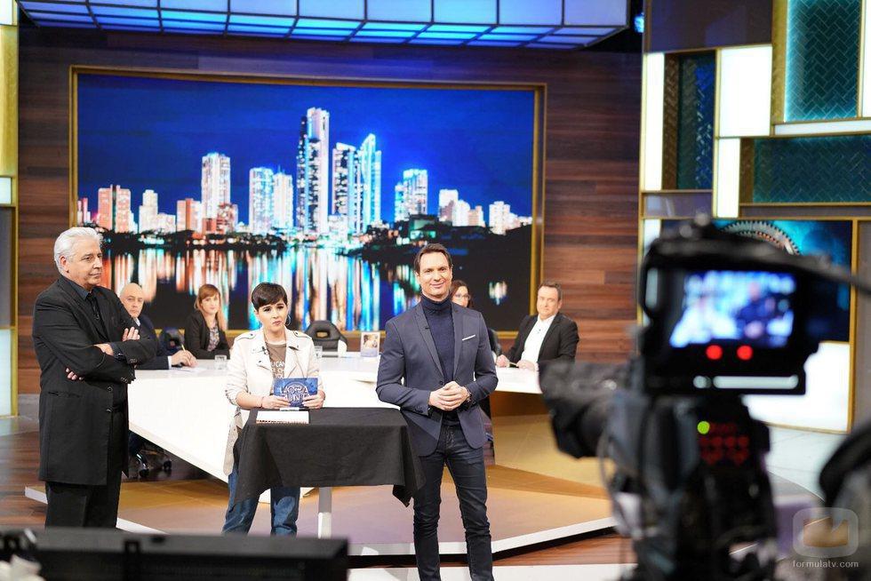 Javier Cárdenas, Alejandra Castelló y Anthony Blake en 'Hora punta'