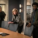 Audra McDonald, Christine Baranski y Nyambi Nyambi en 'The Good Fight'