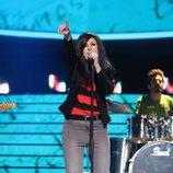 Pepa Aniorte es Susana Alva, vocalista de Efecto Mariposa, en la gala final de 'Tu cara me suena'