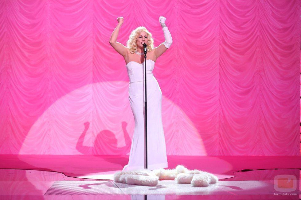 Lucía Jiménez es Madonna en la gala final de 'Tu cara me suena'