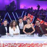 Manel Fuentes posa con el jurado en la gala final de la sexta edición de 'Tu cara me suena'