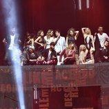 Los concursantes 'OT 2017' en el primer concierto de la Gira