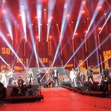 Los concursantes de 'OT 2017' durante el primer concierto de la Gira