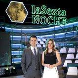 Iñaki López y Andrea Ropero, presentadores de 'laSexta Noche'