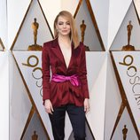 Emma Stone posa en la alfombra roja de los Oscar 2018