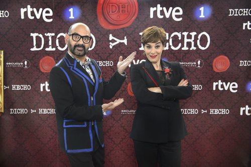 José Corbacho y Anabel Alonso, presentadores de 'Dicho y hecho'