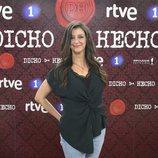 Goizalde Núñez, concursante de 'Dicho y hecho', en la presentación del programa
