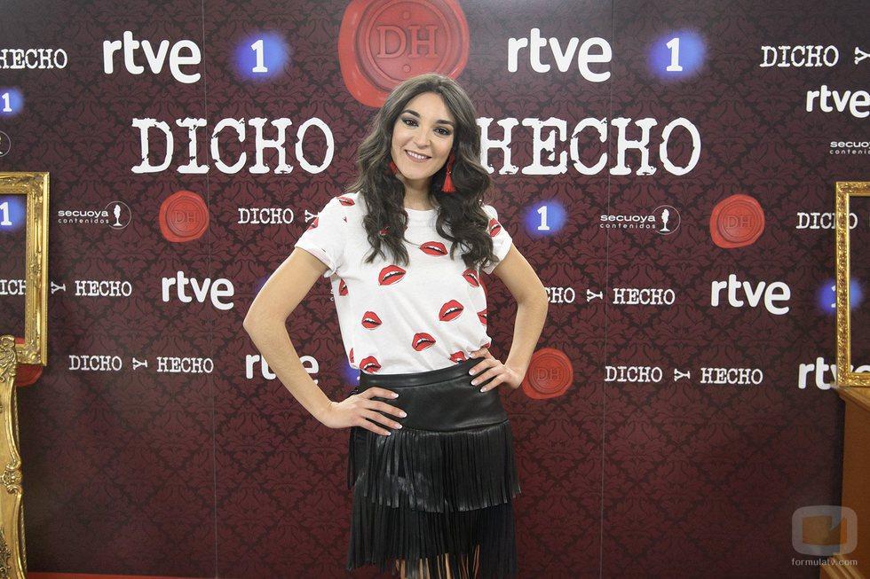 Leonor Lavado en la presentación de 'Dicho y hecho'