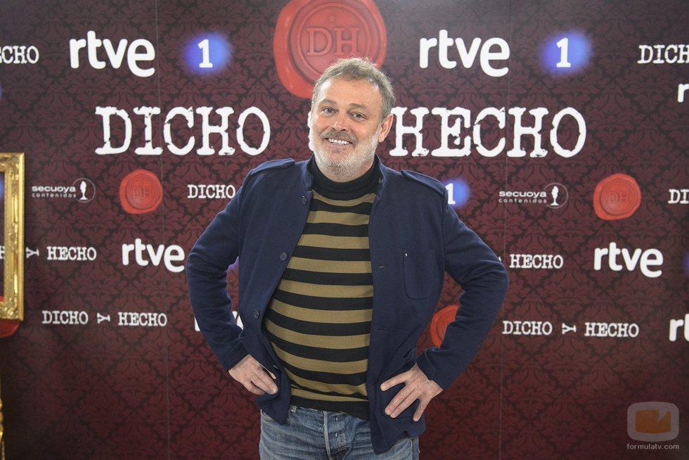 Pablo Carbonell en la presentación de 'Dicho y hecho'