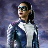Candice Patton como una velocista en 'The Flash'