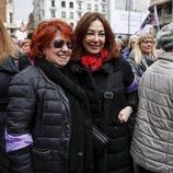 Ana Rosa Quintana y Rosa Villacastín, en la manifestación del 8 de marzo