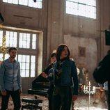 Los protagonistas de 'Cupido' graban una escena de acción