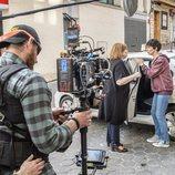 Paz Vega en pleno rodaje de 'Fugitiva', la serie de TVE