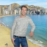 José Manuel Poga, Tobias en 'Fugitiva', en el rodaje de la serie