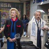 Antonio y Mercedes participan en un rodaje en el noveno episodio de la temporada 19 de 'Cuéntame cómo pasó'