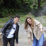 Alfred y Amaia durante el rodaje de la postal de Eurovisión en Las Azores