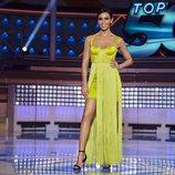 Cristina Pedroche en el plató de 'Top 50' con un vestido largo