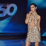 Cristina Pedroche posa en el plató de 'Top 50'