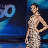 Cristina Pedroche posa de perfil en el plató de 'Top 50'