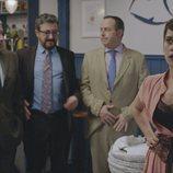 Carmen, tras el bautizo de su niñaen el primer capítulo de la cuarta temporada de 'Allí abajo'