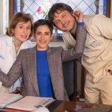 Carmen posa con  Dolores y Jozé para la cuarta temporada de 'Allí abajo'
