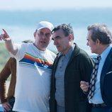 Alfonso Agra en el rodaje de 'Fariña'