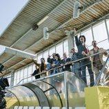 Actores de 'Fariña' durante la grabación de la serie