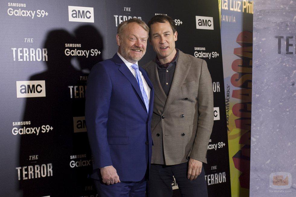 Jared Harris y Tobias Menzies en la presentación de 'The Terror'