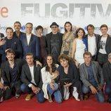 El equipo de 'Fugitiva' posa en el preestreno de la serie