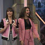 Aitana y Ana Guerra, sonrientes en 'El hormiguero'