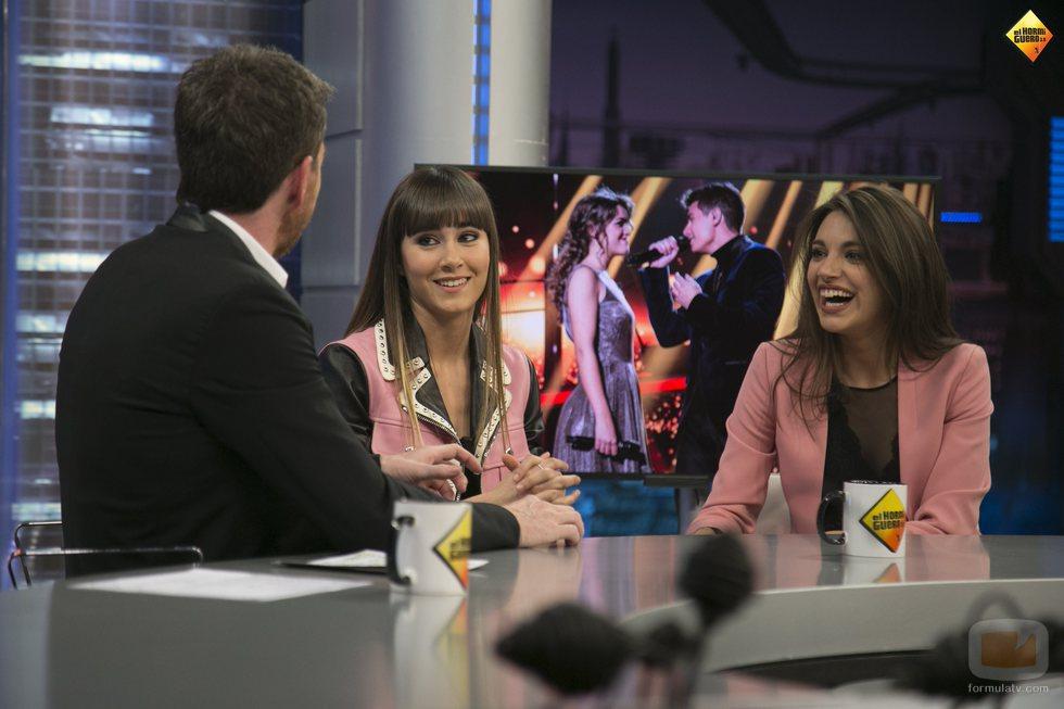 Pablo Motos, Aitana y Ana Guerra en 'El hormiguero'