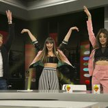 Aitana y Ana Guerra enseñan a bailar a Pablo Motos en 'El hormiguero'