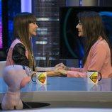 Aitana y Ana Guerra, muy cariñosas en 'El hormiguero'
