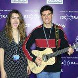 Amaia y Alfred posan sonrientes para los medios en la London Eurovision Party 2018