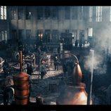La fábrica llena de barriles en 'El Continental'