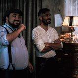 Álex García y Franky Martín, sonrientes en 'El Continental'