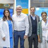 Lolita, Elena Furiase, José Velasco y Fernando López Puig en la rueda de prensa de 'Centro médico'