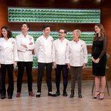 Eva González junto a cinco exconcursantes de 'MasterChef'