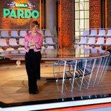 Cristina Pardo, en el centro del plató de 'Liarla Pardo'