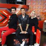 Nando Escribano y sus colaboradores de 'Xtra Factor' en Divinity