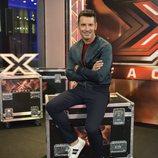 Jesús Vázquez en el backstage de las audiciones de 'Factor X'