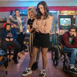 Los protagonistas de 'Bajo la red', la serie juvenil de Playz