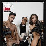 Cristian y Petra ('GH Revolution') posan desnudos junto a Torito para la revista Primera Línea