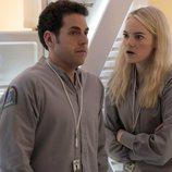 Jonah Hill y Emma Stone en la primera temporada de 'Maniac'