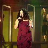 Davinia Cuevas Miguel actuando en una gala de 'OT 3'
