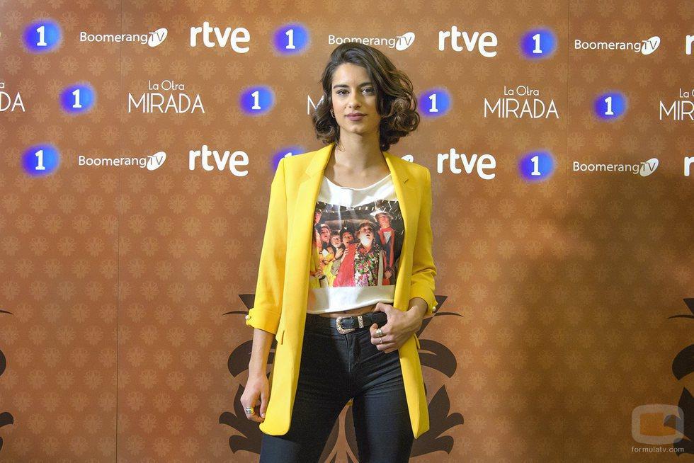 Begoña Vargas en la presentación de 'La otra mirada'