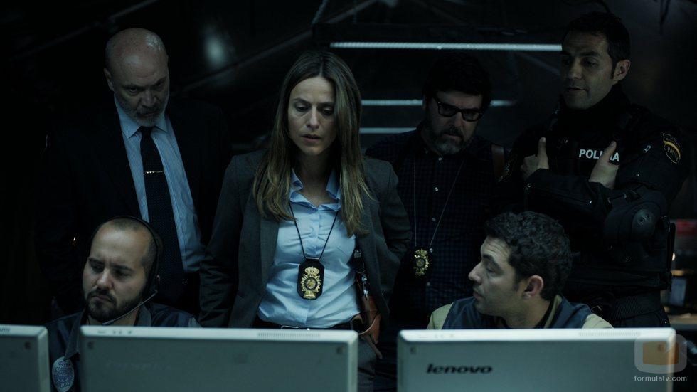 La inspectora Murillo y su equipo en el 1x07 de 'La Casa de Papel'