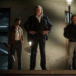 Abraham Guerrero junto a su hijo Tomás y otros dos hombres en 'Gigantes'