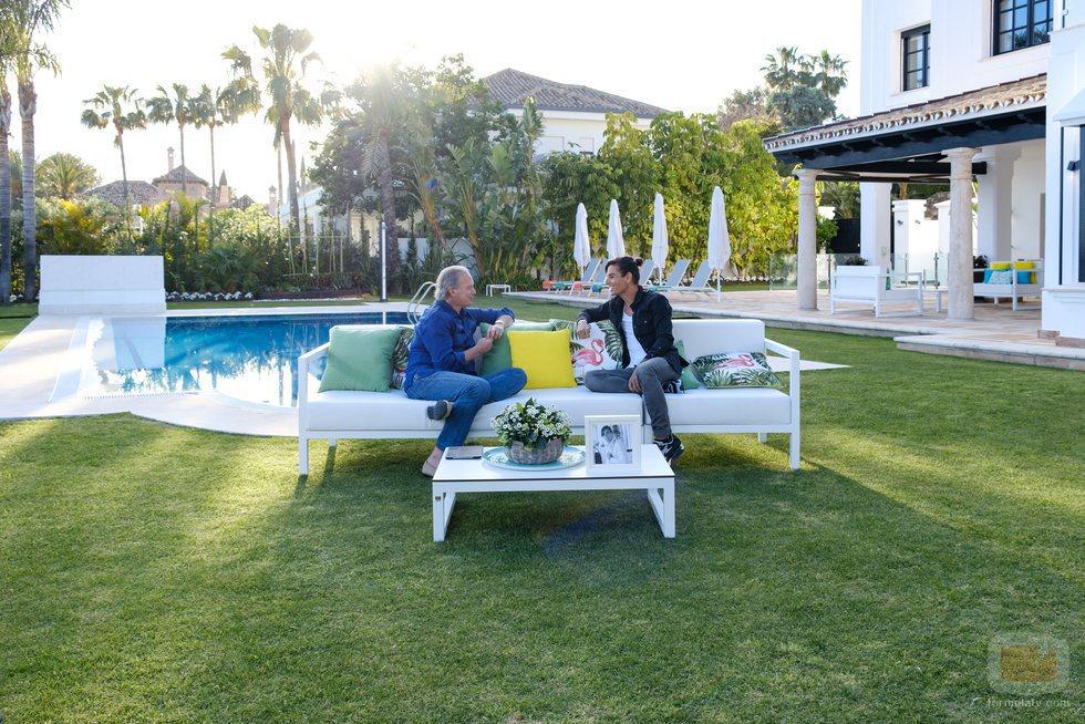 Julio Iglesias Jr. y Bertín Osborne en 'Mi casa es la vuestra'