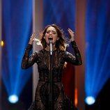 Franka Batelic, representante de Croacia en Eurovision 2018, en el primer ensayo
